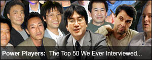 The Top 50 Names in Games We Ever Interviewed