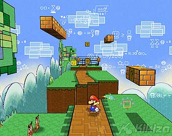 Super Paper Mario , the game takes the style of the hit Paper Mario